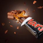 Barre chocolat Mars éclatée